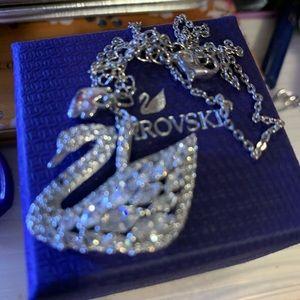 Swarovski large crystal swan